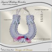 Layered Wedding Horseshoe Cutting Template