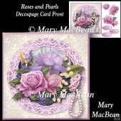 Roses and Pearls Decoupage Card