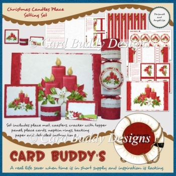 Christmas Candles Place Setting Set