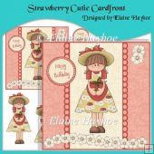 Strawberry Cutie Cardfront with Decoupage