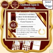 RETIRED Humorous A5 Certificate Ages & Insert Card Kit
