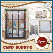 Winter Church Window 7x7 Shadow Box Fold Card Kit
