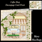 Coffee Shop Decoupage Card Front