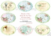 Toppers or ATC Cards - Shabby Chic Oval Toppers