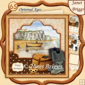 FISHERMEN 8x8 Decoupage Insert & Ages Kit