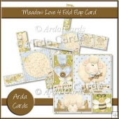 Meadow Love 4 Fold Flap Card