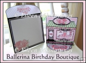Ballerina Boutique Happy Birthday Easel Card with 3 Stoppers