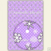 Lilac Snowflakes & Dots A4 Backing Paper