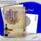 Layered Card Front Layout Template #5