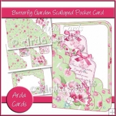 Butterfly Garden Scalloped Pocket Card