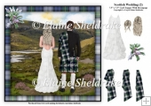 Scottish Wedding (2) - 7.5 x 7.5 Card Topper & Decoupage