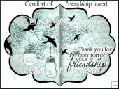 The Comfort of Friendship Fancy Shield Shaped Insert
