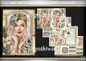 Art Deco Lady Emilia 4 Sheet Mini Kit Silver