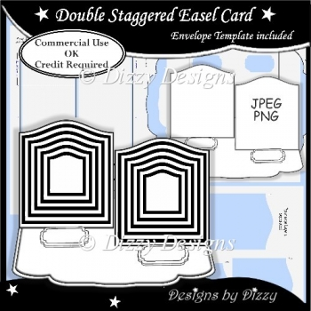 Double Staggered Easel Card Template