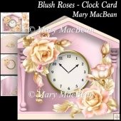 Blush Roses - Clock Card