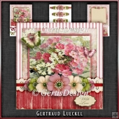 Vintage Birthday Flowers Card Kit 1048