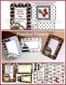 Country Cherry Pictures Frames for Mail w/ Crafting Directions