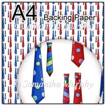 ref1_bp332 - White Mens Tie Fathers Day