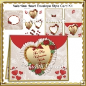 Valentine Heart Envelope Style Card Kit