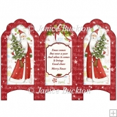 Scalloped Top Screen Tri fold Card - Santa 2