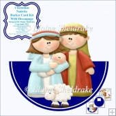 "Christmas Nativity - 7"" x 7"" Rocker Card Kit With Decoupage"