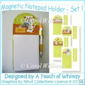 Magnetic Notepad Holder - Set 1