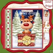 CHRISTMAS CHEER FROM REINDEER 7.5 Decoupage & Insert Kit
