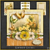 Vintage Birthday Flowers Card Kit 1047