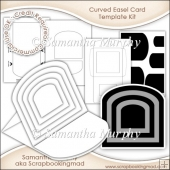 Curved Pyramage Easel Card & Envelope Template Commercial Use Ok