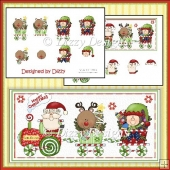 Santa Express Card Front with Decoupage