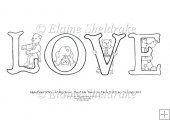 Love - A5 Alpha Bears Digi Stamp