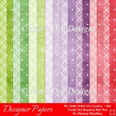 Easter Delights Colors Digital Designer A4 Papers Backgrounds 1