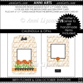 Birth Flower and Gem October: Envelope Add-On Item