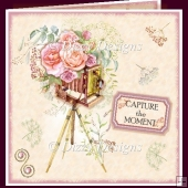 Floral Retro Camera Card Front & Inserts