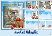 Male Card Various Tags with Decoupage Envelopes and inserts