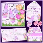 Tip Toe thru the tulips! Card & Gift Box Set