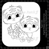 Tiger Cubs - Set of 2 Digital Stamps
