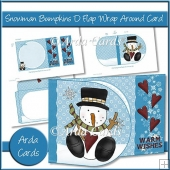 Snowman Bumpkins D Flap Wrap Around Card