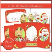 Ho Ho Ho Double Foldback Card