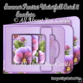 Summer Pansies Waterfall Card
