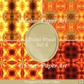 Printable Paper Bead Sheet Set 8