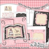 With This Ring Open Book Foldback Card & Envelope
