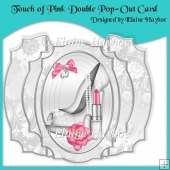 Touch of Pink Wedding Day Double Pop-Out Card