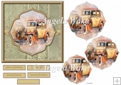 The vintage car 6x6 card