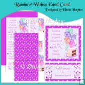 Rainbow Wishes Easel Card & Pyramage