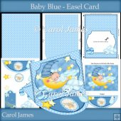 Baby Blue - Easel Card