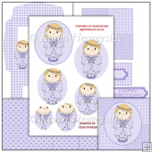 Cute Lilac Angel Easel Card