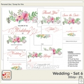 Floral Watercolor Wedding Invitation Set 6