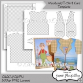 CU4CU T Shirt & Waistcoat Card & Box Template 300dpi Printable