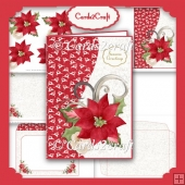 Poinsettia and Reindeer card set